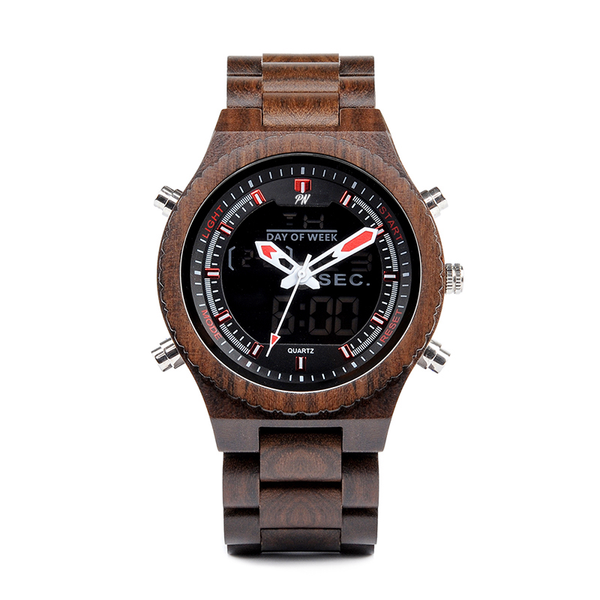 Wood Fashion by PN: Men's Wooden Watches - Hugo - Dark