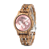 Wood Fashion by PN: Women's Wooden Watches - Bella - Pink