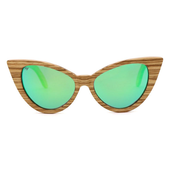 Wood Fashion by PN: Women's Wooden Sunglasses - Tampa