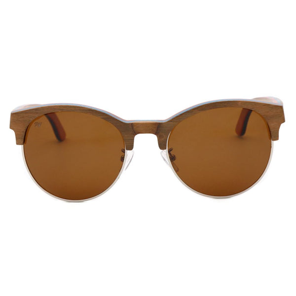 Wood Fashion by PN: Women's Wooden Sunglasses - Virginia