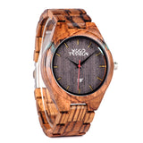 Wood Fashion by PN: Men's Wooden Watches - Nolan - Lava
