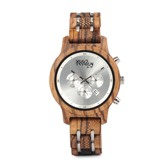 Wood Fashion by PN: Women's Wooden Watches - Bella - Silver