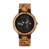Wood Fashion by PN: Men's Wooden Watches - Brayden - Lava