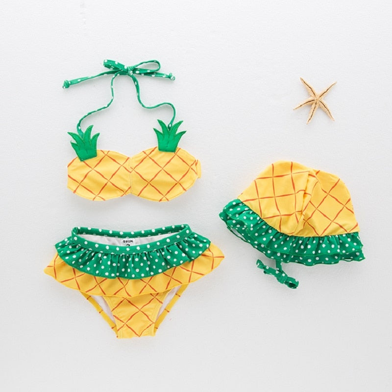 Girls Pineapple Bikini Swimwear