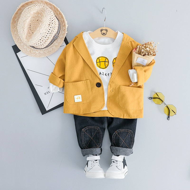Baby Boys Long Sleeve T-shirt Jeans Trousers Clothing Sets