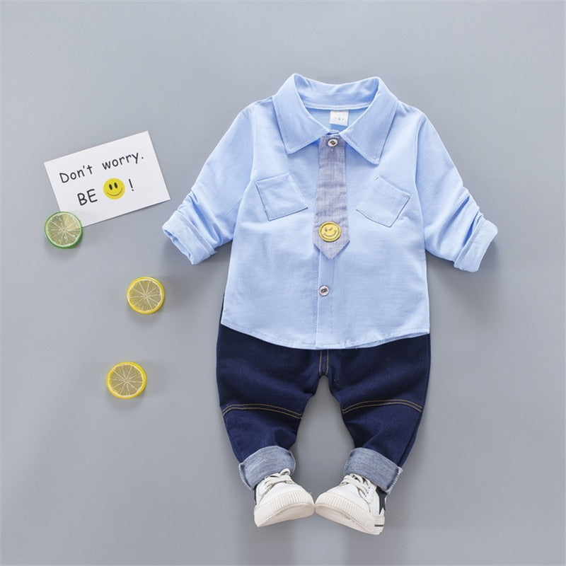Baby boys cotton formal clothing set