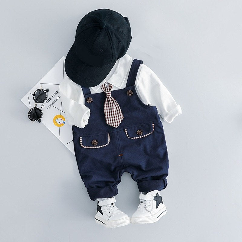 Baby Boy Collar T-shirt Trousers Clothing Sets