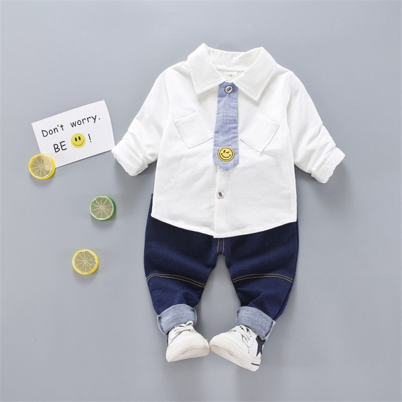 Baby boys cotton formal gentleman clothing set