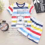 Baby Boy Clothes Summer 2018 New Baby Boy Clothing Set Cotton Girls Clothes Set Cartoon Newborn Baby Clothes Tops Tee+short Pant