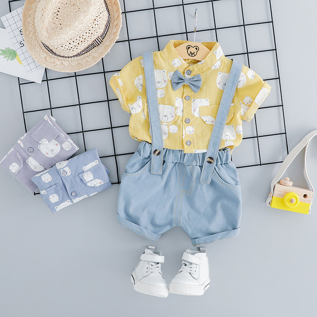 Polar Bear Printed Bow Summer Set