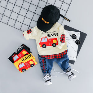 Baby Boy Casual Car Clothes Set