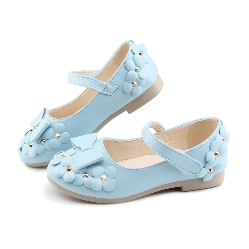 Girls Wedding Party Floral Shoes with flowers