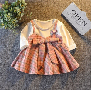 Baby Girls bow princess frock