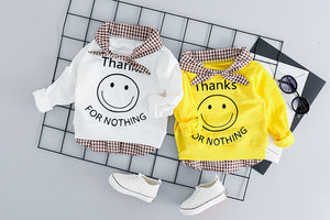 Baby Suit Smiley face T Shirt Jeans Kids Clothes Set