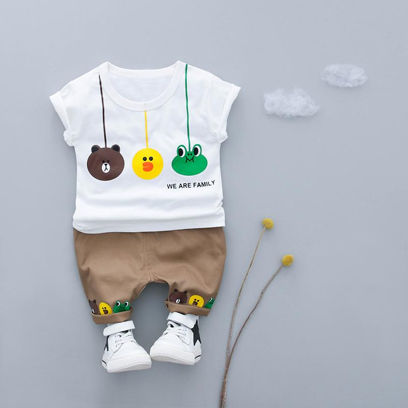 Kids Cartoon Design T-shirt+ Shorts/Set