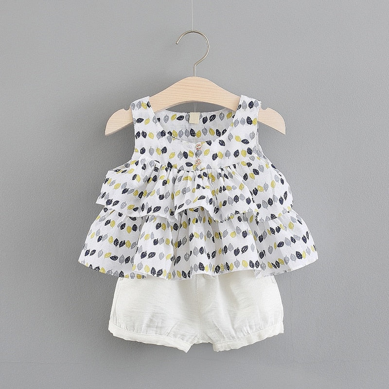 Baby Girls Cotton O-Neck Clothing Suit