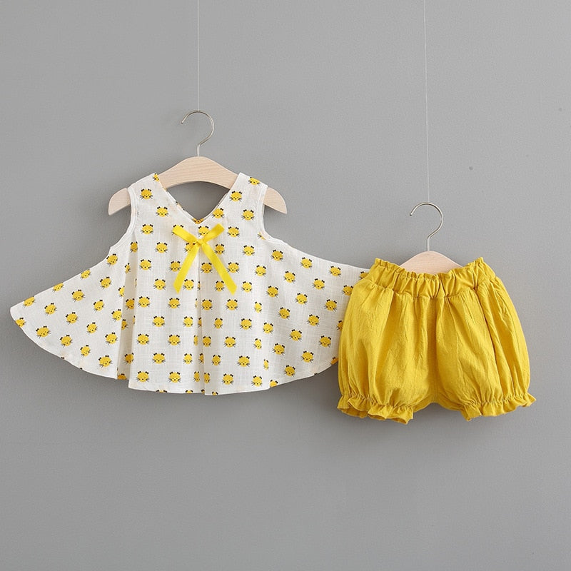 Baby Girls Summer Cotton Suits