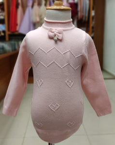 Bow Tie Baby Girl Sweaters