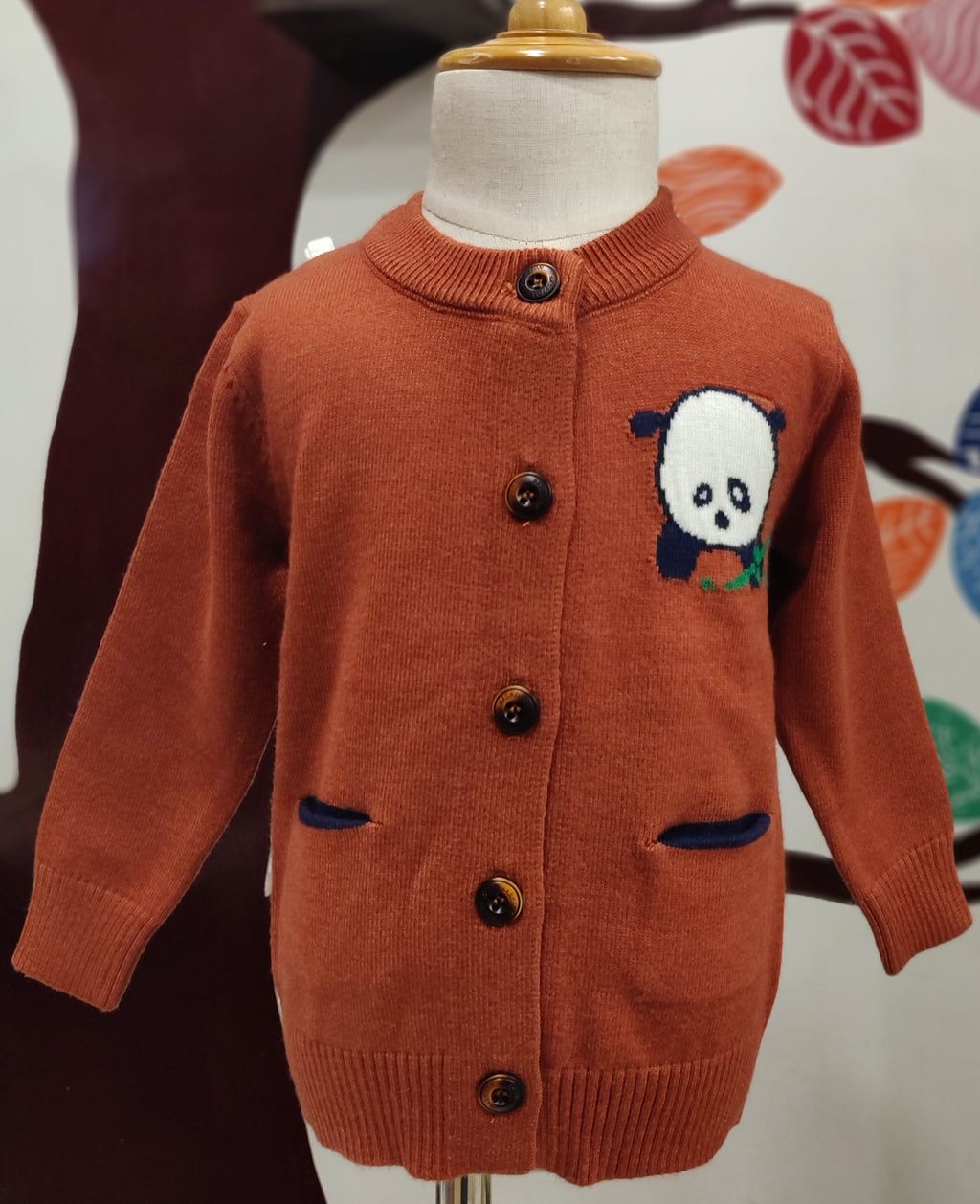 Front Button Kids Sweaters