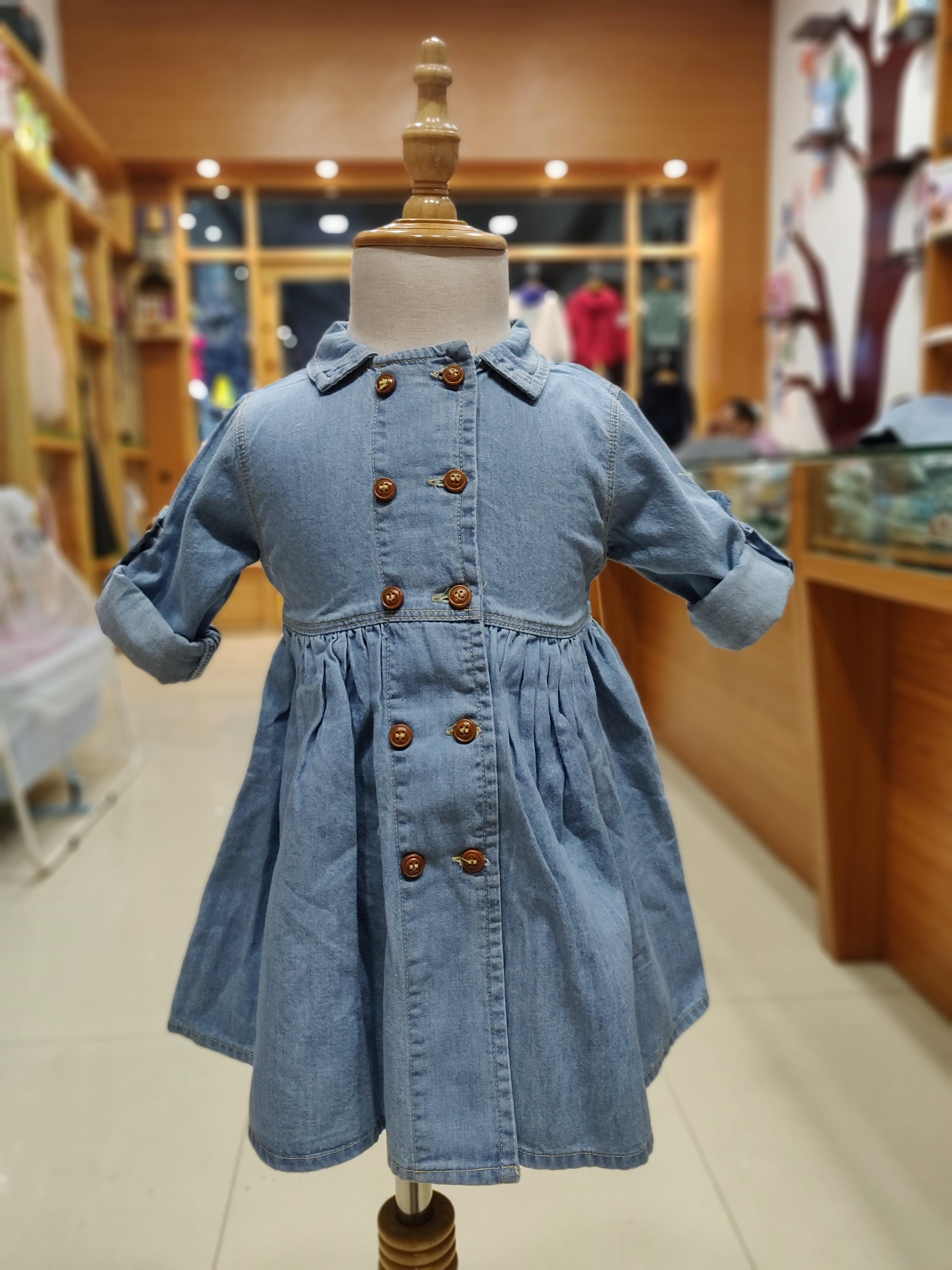 Denim Baby Frocks