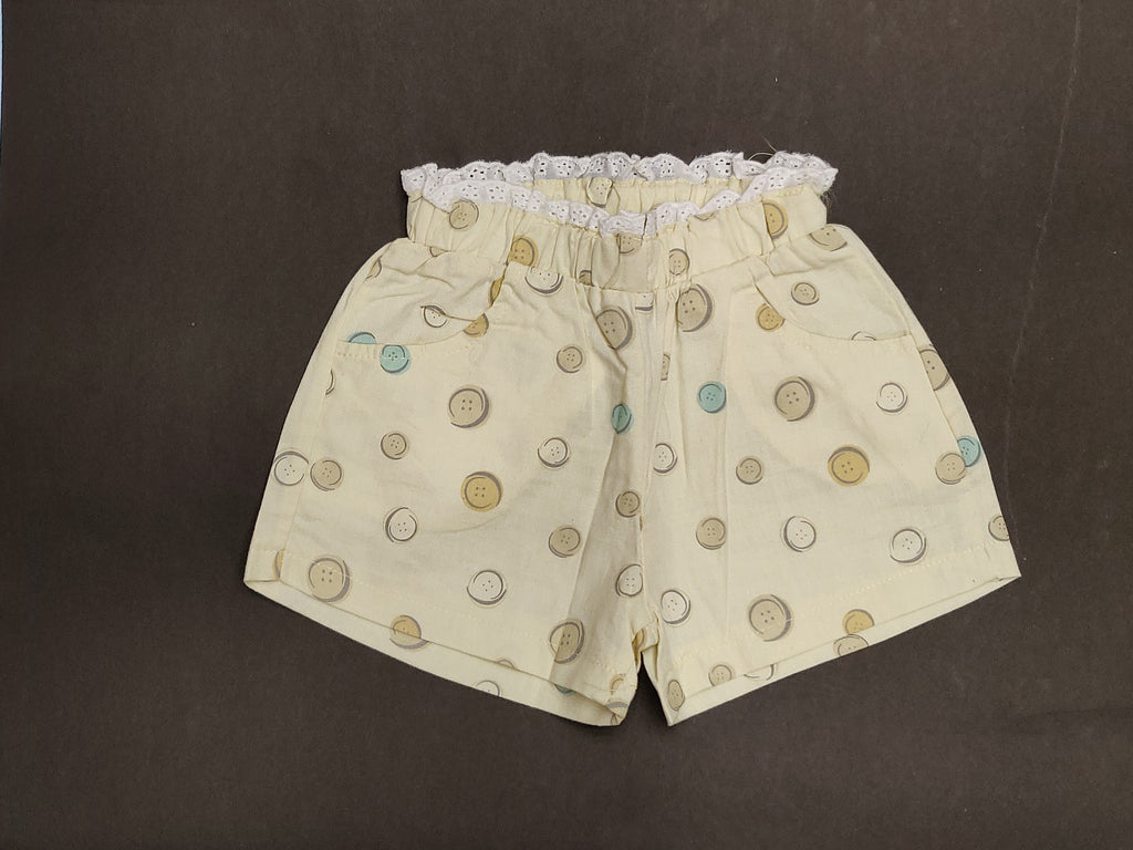 Grip Cotton Shorts For Girls
