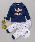 Ollypop Full Sleeves Night Suit King Of Naps Print
