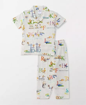 Ollypop Half Sleeves Night Suit Alphabet Print