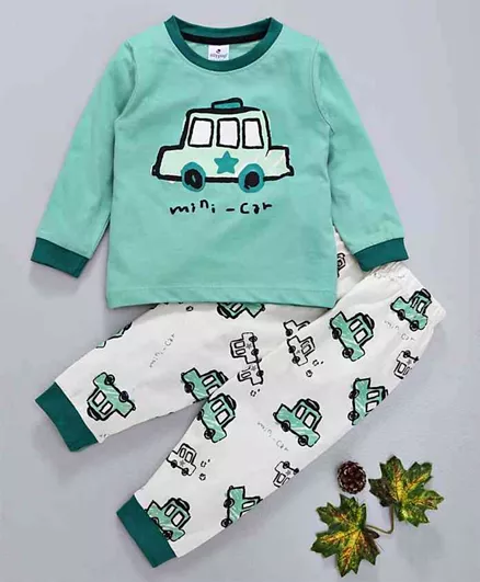 Ollypop Full Sleeves Night Suit Car Print