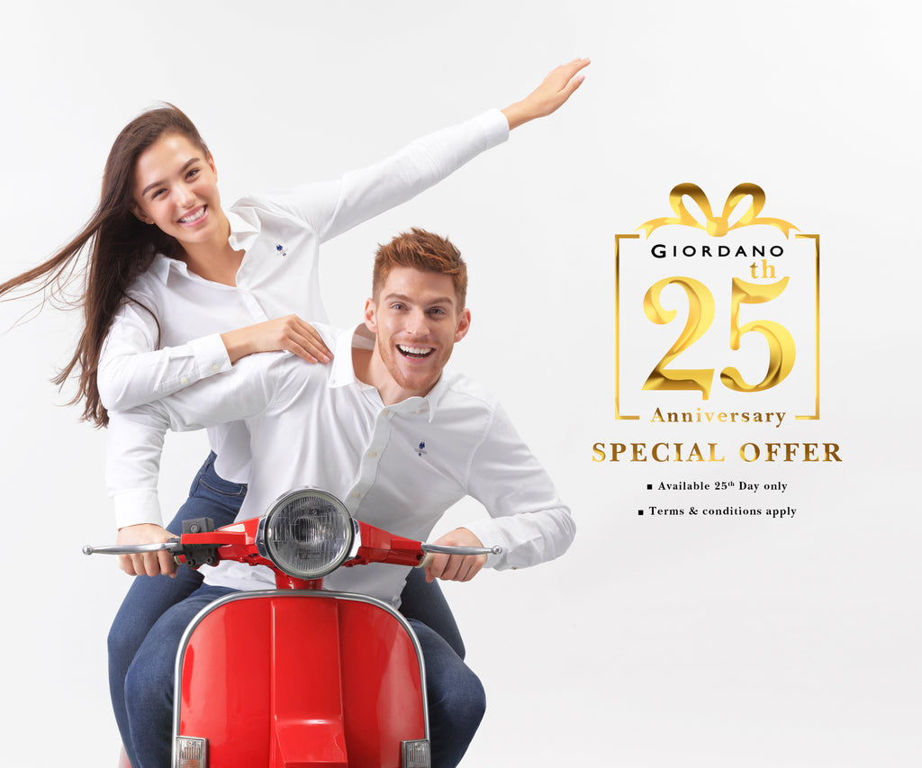 GIORDANO 25th ANNIVERSARY SPECIAL OFFER SHOP LIST