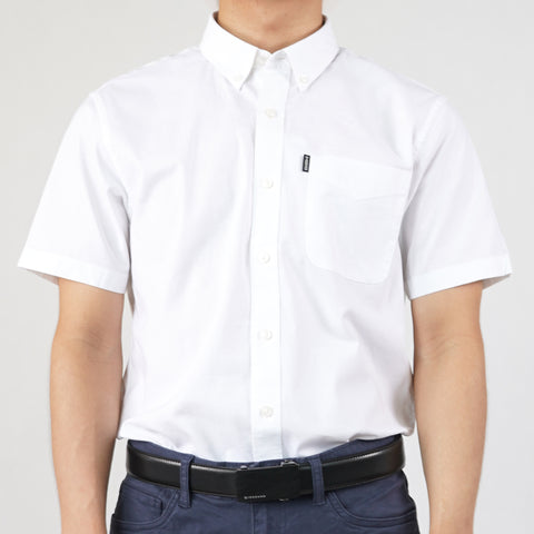 Men Oxford Stretch Short Sleeves Shirt