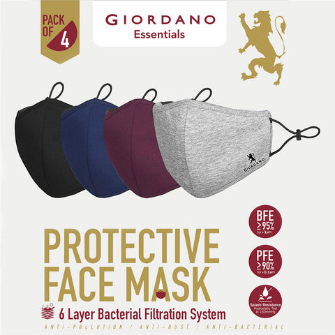 Giordano Protective Face Mask ( 1pack 4pcs) ( Buy 2 Save 30% )