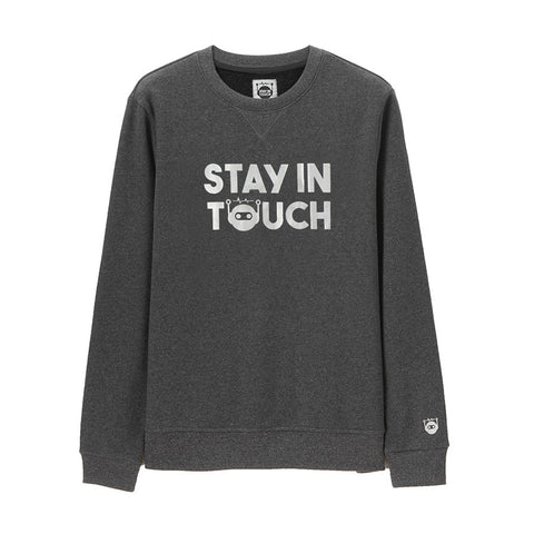 Women Stay in touch series printed loose sweashirt