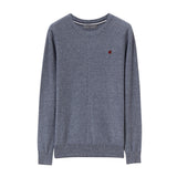 Men Cotton Crewneck Pullover Sweater