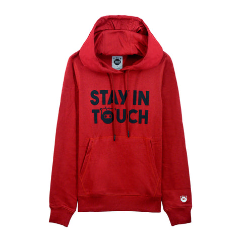 WOMEN STAY IN TOUCH Printed kanga pocket hoodie