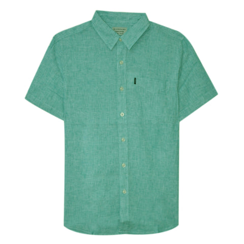 Men Linen Short Sleeve Pocket Shirt