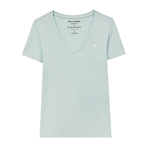 Women Frog Solid V-Neck Basic Tee (Buy 1 Get 1)