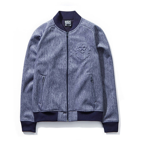 BSX VON EMBOSSED FLEECE BASEBALL JACKETS
