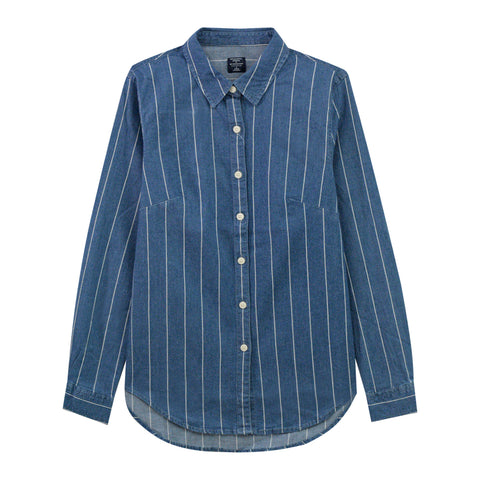 Women Long Sleeves Denim Shirt