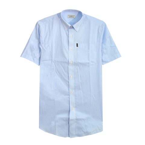 Men Oxford Short Sleeve Pocket Shirt