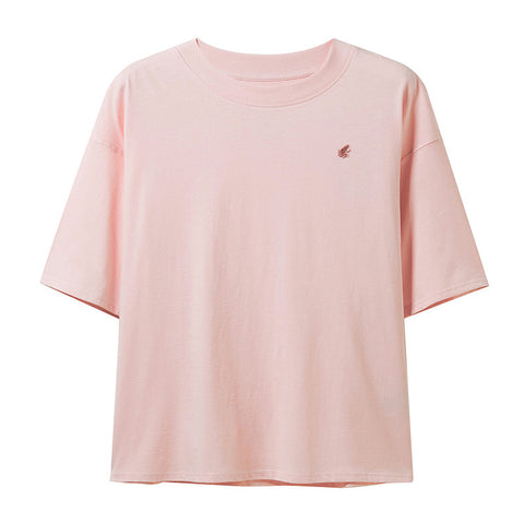 Women Short-Sleeve Loose Cotton Tee
