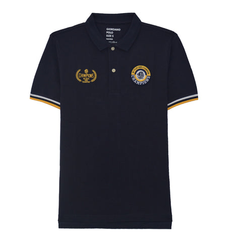 Men Contrast Polo