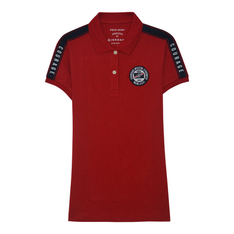 Women's Cotton/Lycra Pique Short Sleeve Embroidery Polo