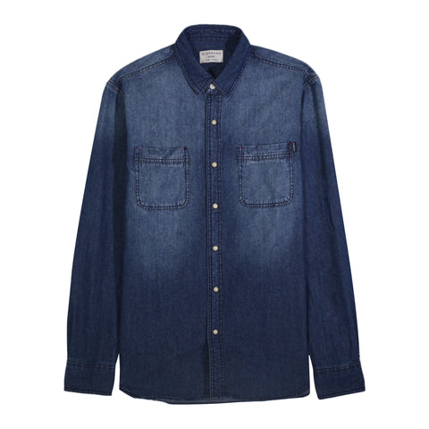 Patch Pocket Slim Denim Shirt