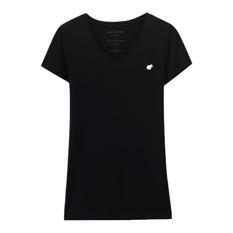 Women Frog Solid V-Neck Basic Tee (Buy 2 Get 1)