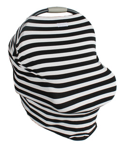 Striped Multi-Use Stretchy Baby Car Seat Cover