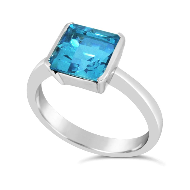 9CT WG 8X8 BLUETOPAZ