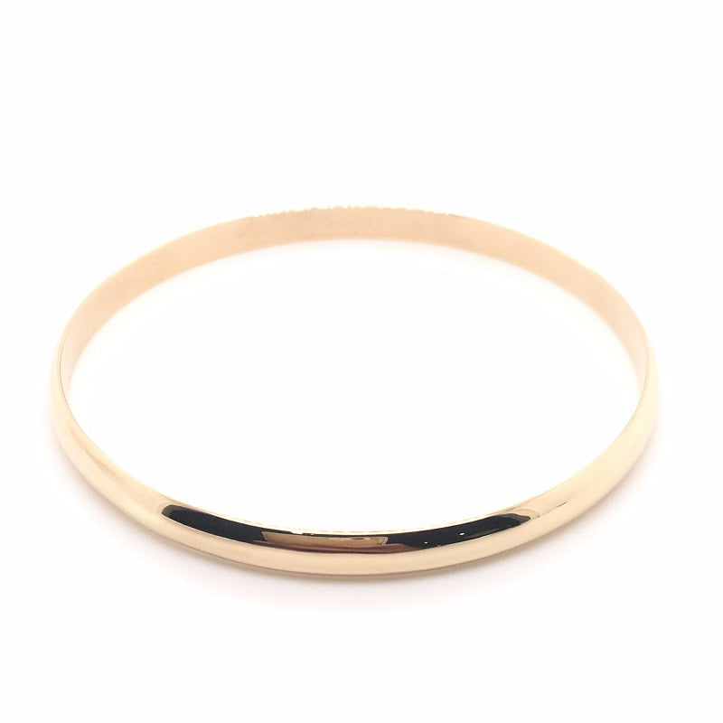 9CT YG 1/2 RD BANGLE