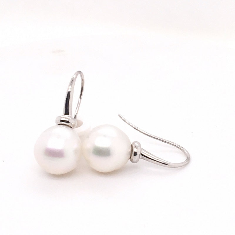 9CT WG 12-13MM STH/S PEARL ON S/HOOK
