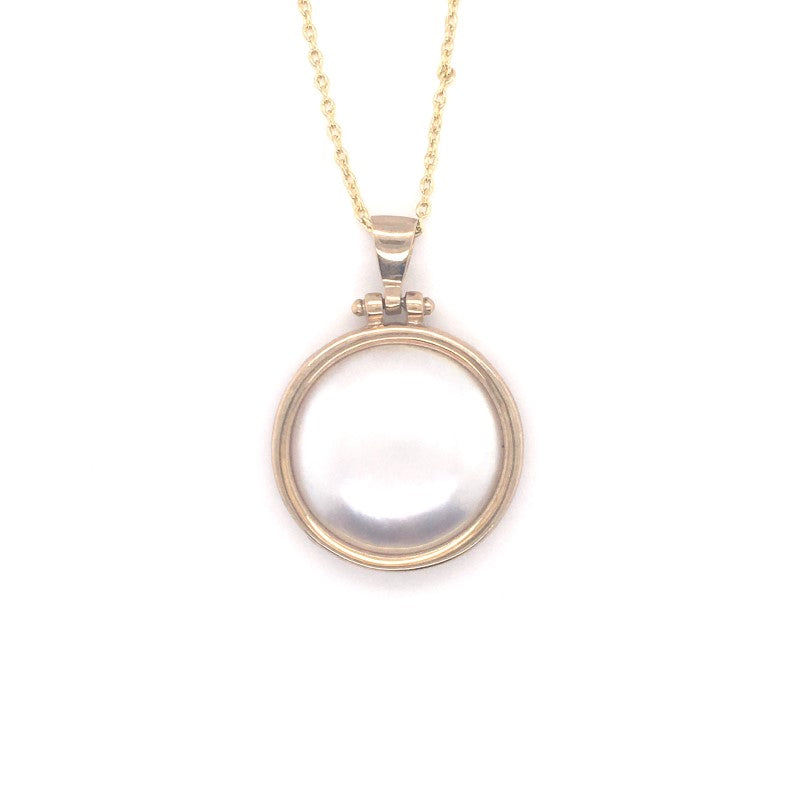 9CT YG 25MM MABE PEARL PENDANT