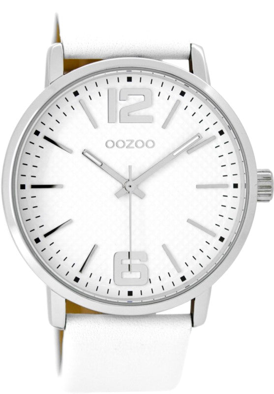 OOZ44MM SILV/WHT/WHITE 22MM LEATHER